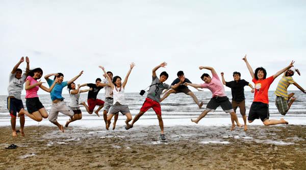 Brincando en la Playa