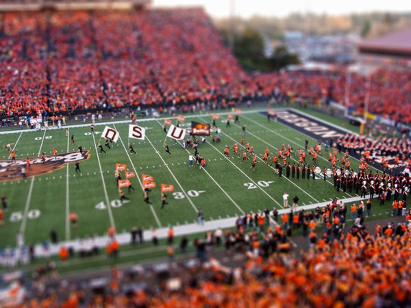 Civil War Football Game at Reser Stadium