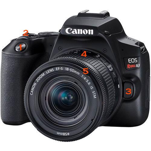 Funciones de la camara Canon SL3 que debes aprender