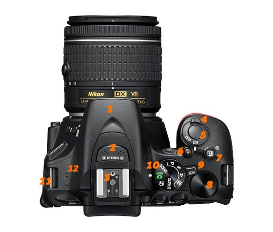 Funciones de la Nikon D5600 superior