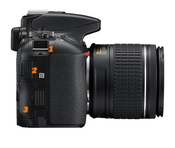 Funciones de la Nikon D5600 lateral
