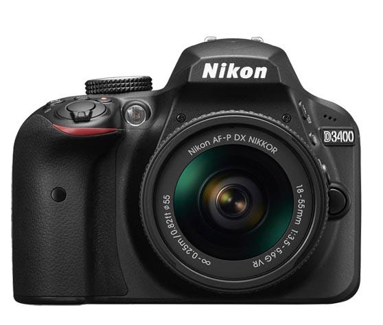 Funciones Nikon D3400 frente