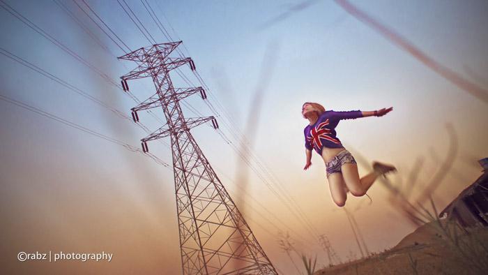 Retratos de personas saltando