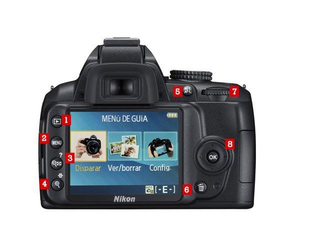 Camara Nikon D3200 Atras